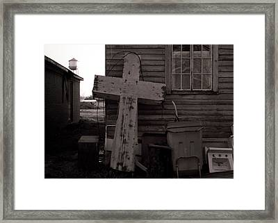 Cross Tallulah Louisiana Framed Print