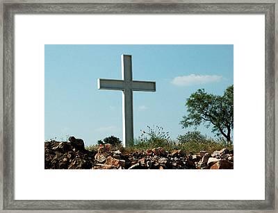 Cross Framed Print by Teresa Blanton