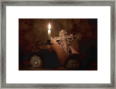 Cross Framed Print by Tom Mc Nemar