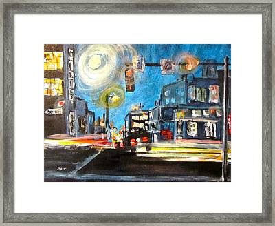 Cross Traffic Framed Print