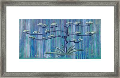 Cross Tree Framed Print by Kelly Jade King