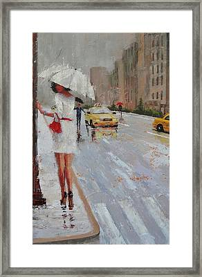 Cross Walk Framed Print