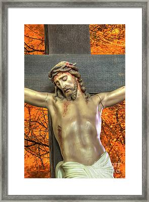 Cross With Thorns Framed Print