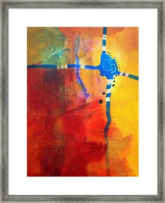 Crossed Abstract Cruciform Painting Framed Print
