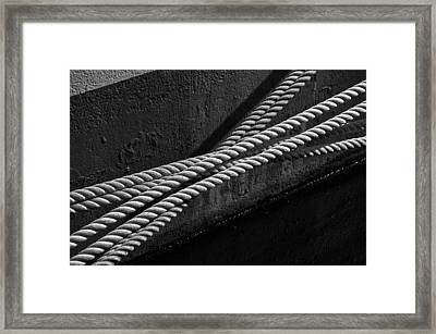 Crossed Ropes Framed Print by William Haney