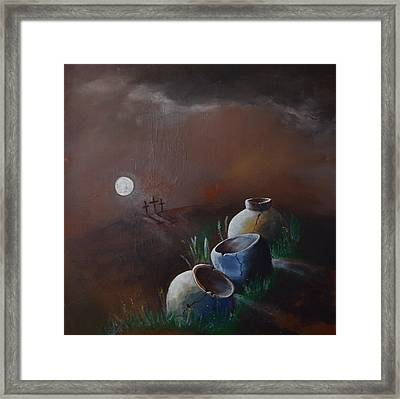Crosses And Crocks Framed Print by Gary Smith