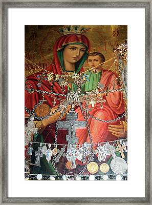 Crosses Framed Print by Munir Alawi