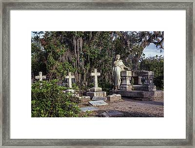 Framed Print featuring the photograph Crosses Three by Kim Hojnacki