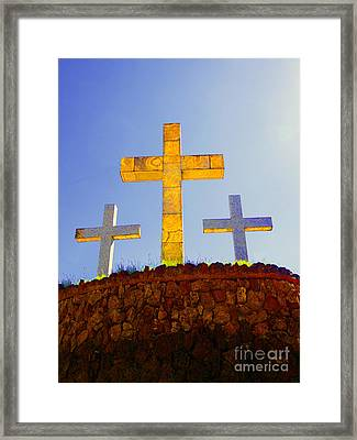 Crosses To Bear Framed Print by Al Bourassa