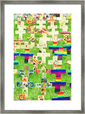 Crosses Framed Print by Tom Gowanlock