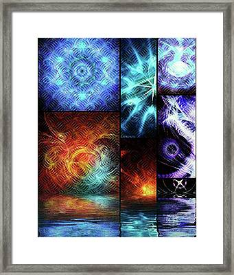 Crosshatch Visions Submerging #art Framed Print by Michal Dunaj