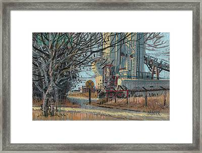 Crossing Ahead Framed Print by Donald Maier