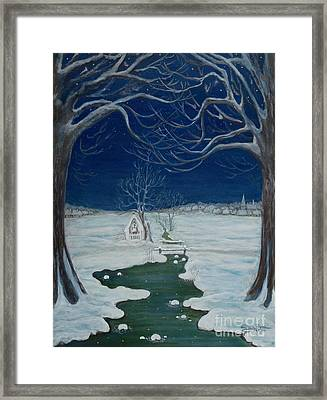 Crossing At The Shrine Framed Print by Anna Folkartanna Maciejewska-Dyba