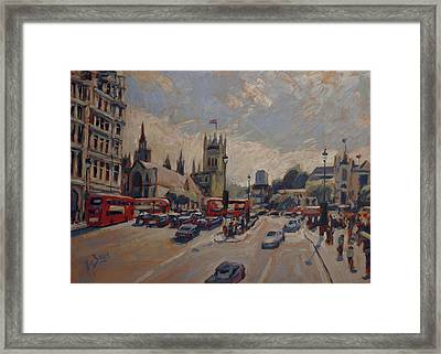 Crossing At Westminster Framed Print