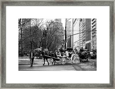 Crossing Center Drive Framed Print by John Rizzuto