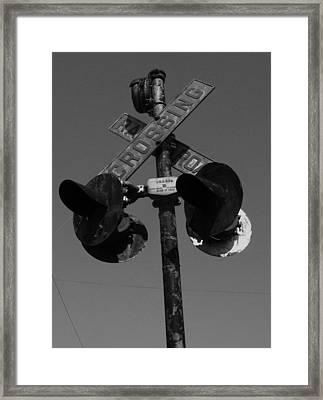 Crossing In Black And White Framed Print