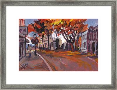 Crossing In Maastricht Framed Print