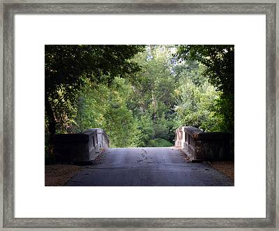 Crossing Into The Light Framed Print