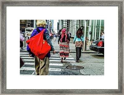 Framed Print featuring the photograph Crossing by Karol Livote