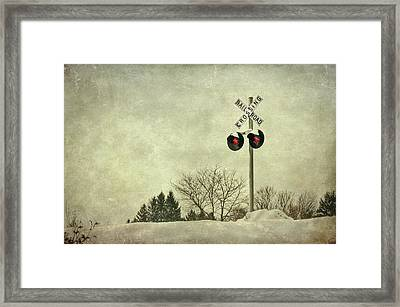 Crossing Over Framed Print by Evelina Kremsdorf