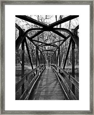 Crossing Over Framed Print by Sheryl Burns