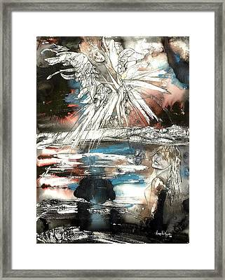 Crossing Spheres Framed Print