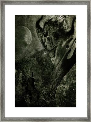 Crossing The Abyss Framed Print by Cambion Art