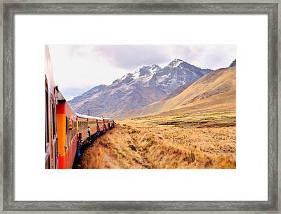 Framed Print featuring the photograph Crossing The Andes by Nigel Fletcher-Jones
