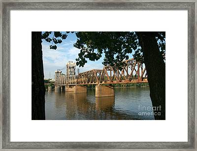 Crossing The Arkansas River Framed Print by Don Trimble