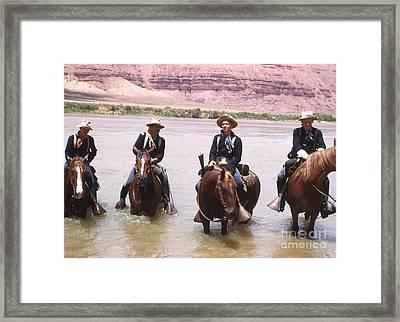 Crossing The Colorado River Framed Print