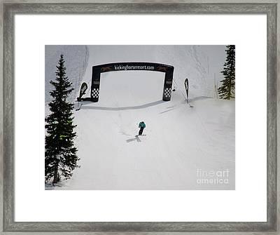 Crossing The Finish Line Framed Print by Ryan Djakovic