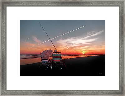 Crossing The Line Framed Print by Betsy Knapp