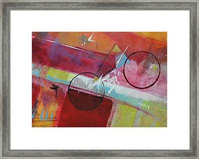Framed Print featuring the painting Crossing The Line by Kate Word