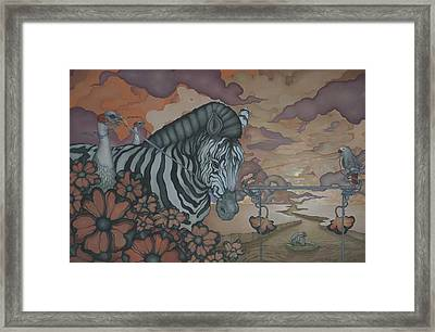 Crossing The Mara Framed Print