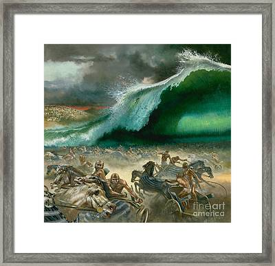 Crossing The Red Sea Framed Print by Anonymous