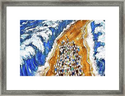 Crossing The Red Sea Horizontal  Framed Print