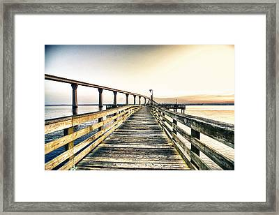 Crossing The River  Framed Print by Kelly Reber