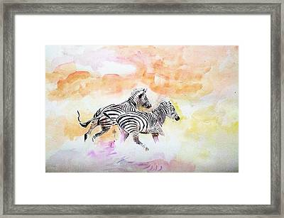Crossing The River. Framed Print