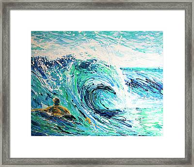 Crossing The Sandbar Framed Print