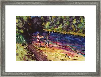Crossing The Stream Framed Print