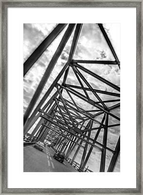 Crossing Through The Chesapeake Bay Bridge Framed Print