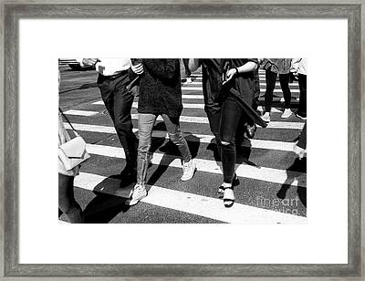 Framed Print featuring the photograph Crossings 234 by John Rizzuto