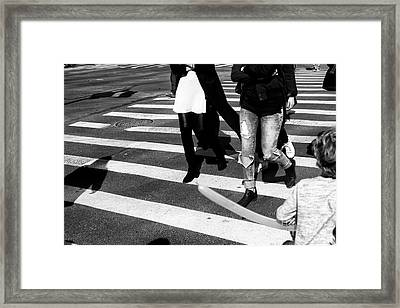 Framed Print featuring the photograph Crossings 235 by John Rizzuto