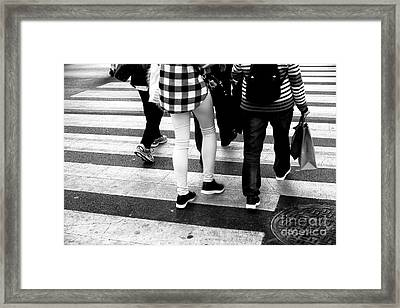 Framed Print featuring the photograph Crossings 236 by John Rizzuto