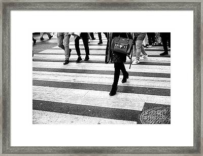 Framed Print featuring the photograph Crossings 237 by John Rizzuto