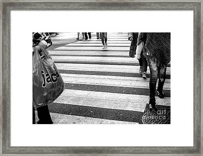 Framed Print featuring the photograph Crossings 238 by John Rizzuto