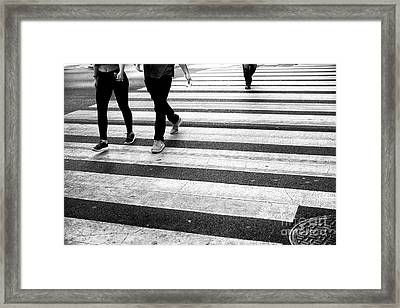 Framed Print featuring the photograph Crossings 239 by John Rizzuto