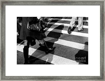 Framed Print featuring the photograph Crossings Shadow First by John Rizzuto