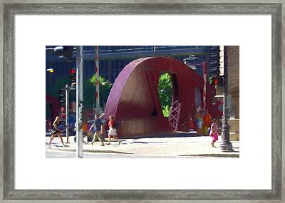 Crossings - Chicago Framed Print by Chrystyne Novack