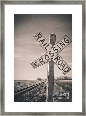 Crossings Framed Print by Christina Klausen